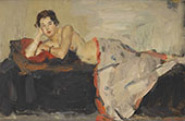 Reclining Nude London By Isaac Israels