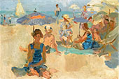 Sunny Day at the Beach Viareggio By Isaac Israels