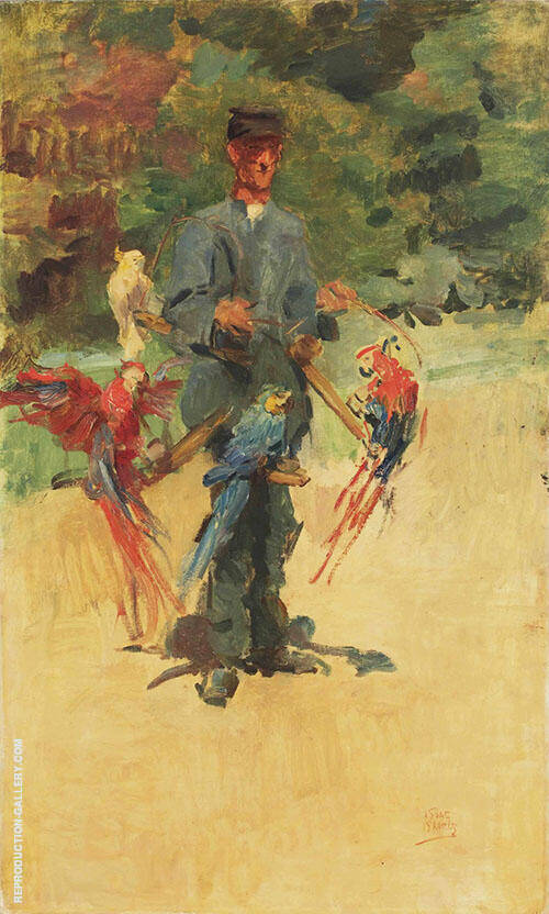 The Parrotman Guard int he Zoo the Hague By Isaac Israels
