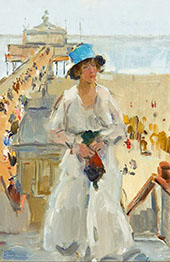 The Promenade By Isaac Israels