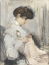 The Young Seamstress By Isaac Israels