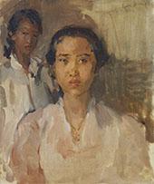 Two Javanese Ladies By Isaac Israels