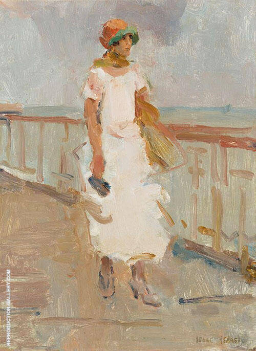Lady Walking on Scheveningen Pier By Isaac Israels
