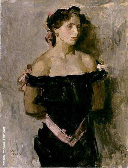Woman in Black Evening Dress By Isaac Israels