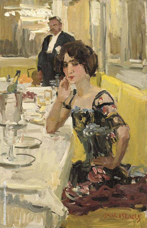 At Table at the Restaurant Le Perroquet By Isaac Israels