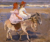 Donkey Riding on the Beach By Isaac Israels