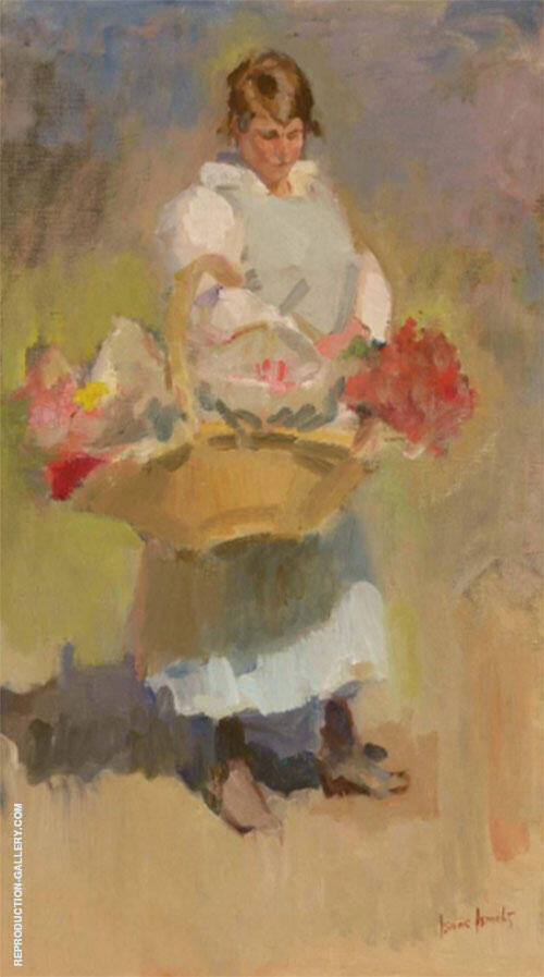 A Flower Girl By Isaac Israels