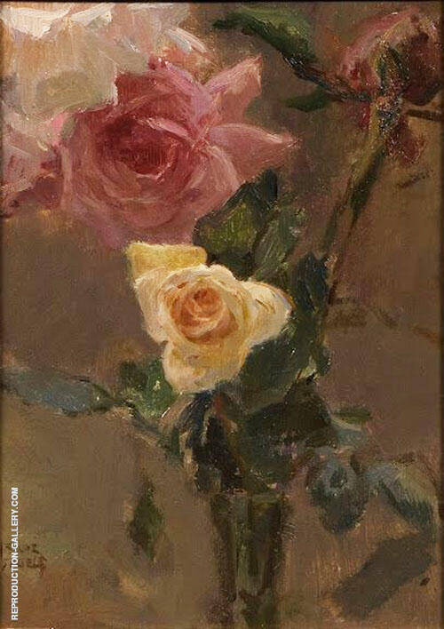 Pink Roses By Isaac Israels