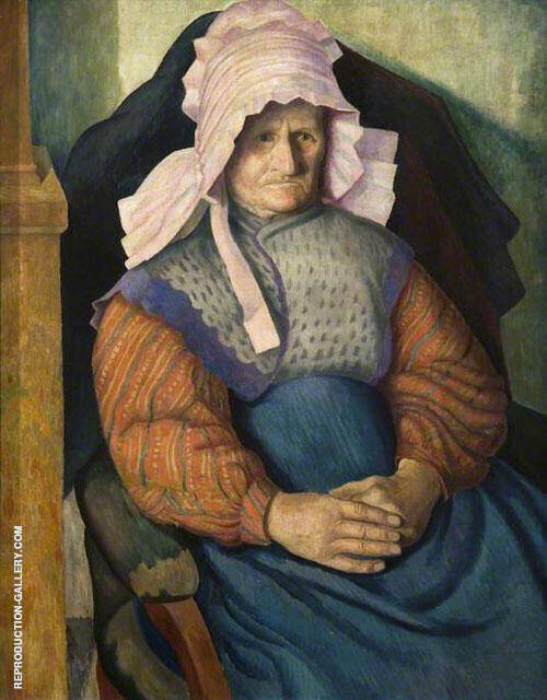 Mrs Box 1919 Painting By Dora Carrington - Reproduction Gallery