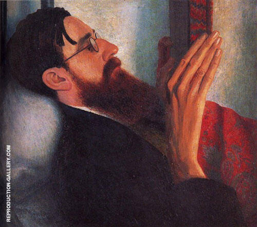 Portrait Strachey 1916 By Dora Carrington