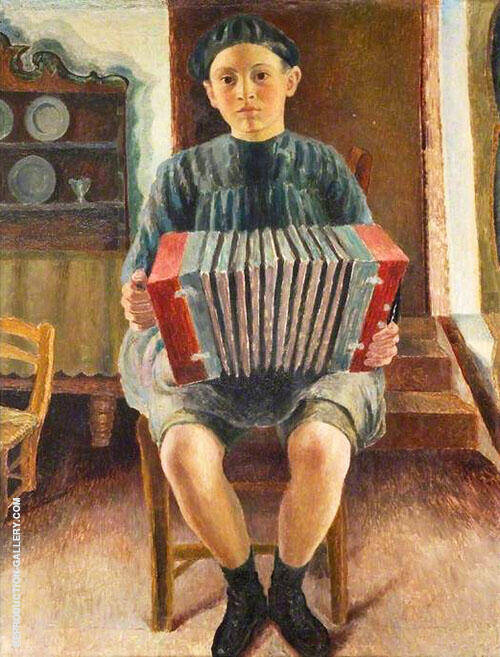 Spanish Boy Painting By Dora Carrington - Reproduction Gallery