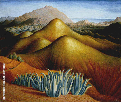 Spanish Landscape with Mountains c1924 Painting By Dora Carrington