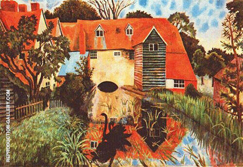 The Mill at Tidmarsh 1918 By Dora Carrington