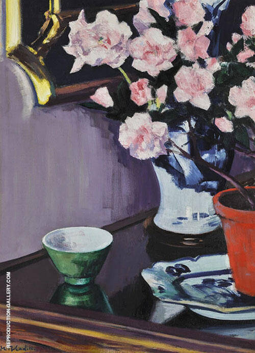 Pink Azaleas By Francis Campbell Boileau Cadell