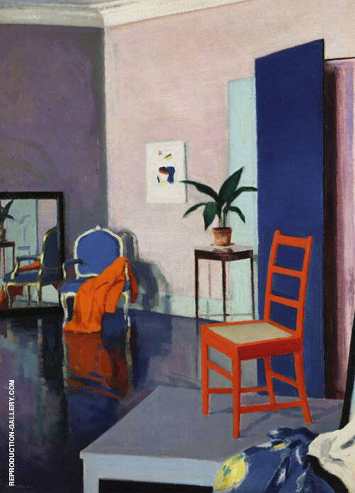 Interior with Red Chair By Francis Campbell Boileau Cadell