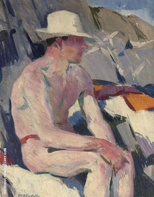 Seated Bather By Francis Campbell Boileau Cadell