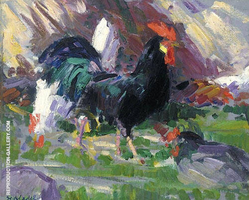 Black Cockerel By Francis Campbell Boileau Cadell