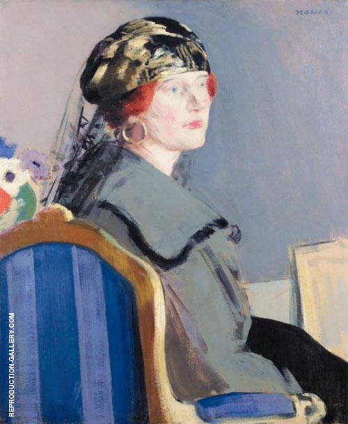 Portrait of May Easter By Francis Campbell Boileau Cadell