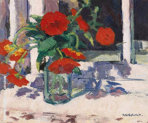 Still Life with Marigolds Painting By Francis Campbell Boileau Cadell
