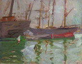 Ships in Venice By Francis Campbell Boileau Cadell