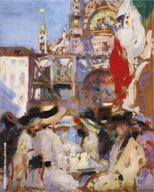 Florian's Cafe, Venice By Francis Campbell Boileau Cadell