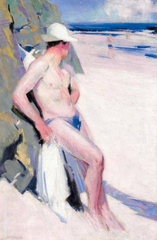 The Bather By Francis Campbell Boileau Cadell