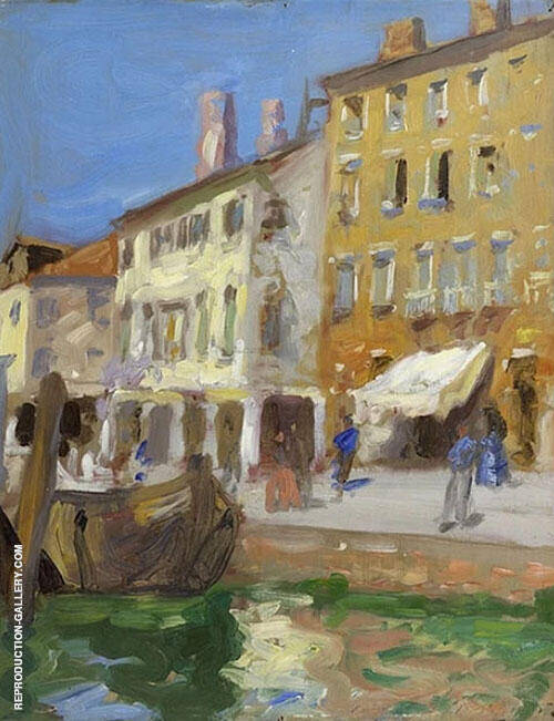 Venetian Canal Scene By Francis Campbell Boileau Cadell