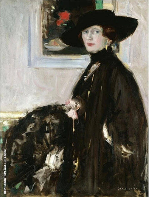 The Black Hat Miss Don Wauchope By Francis Campbell Boileau Cadell