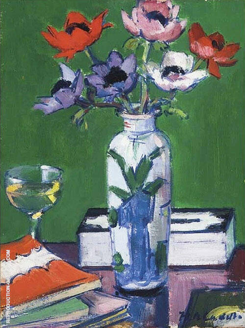Still Life with Anemones By Francis Campbell Boileau Cadell