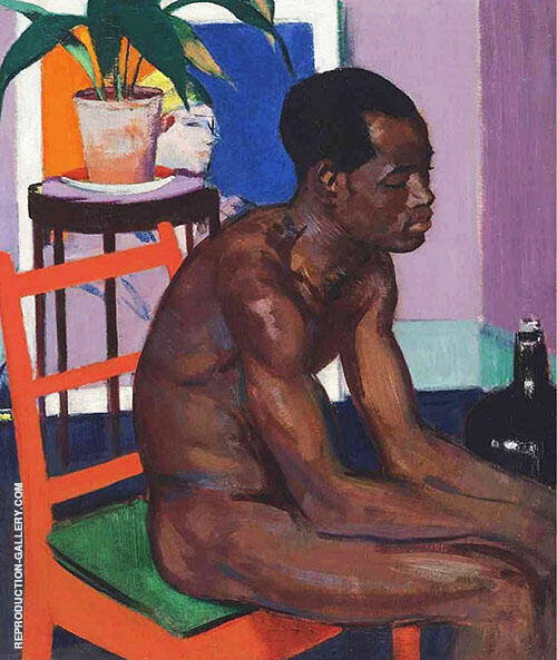 Pensive Negro 1922 By Francis Campbell Boileau Cadell