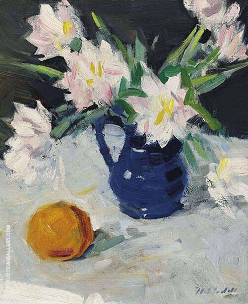 Still Life with Blue Jug By Francis Campbell Boileau Cadell