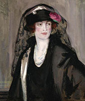 Portrait of Lady Lavery in Black By Francis Campbell Boileau Cadell