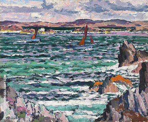 Sailing Boats, Iona Painting By Francis Campbell Boileau Cadell