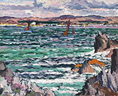 Sailing Boats, Iona By Francis Campbell Boileau Cadell