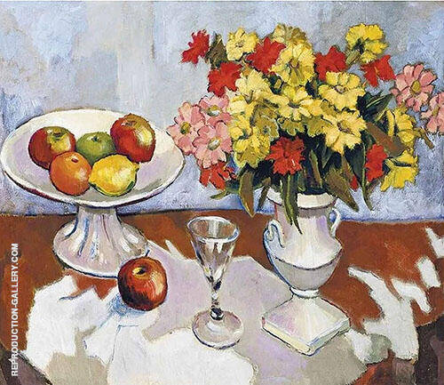 Still Life with Flowers in an Urn By Francis Campbell Boileau Cadell