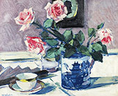 Pink Roses 3 By Francis Campbell Boileau Cadell
