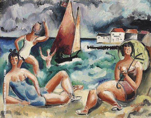 Bathers By Christopher Wood