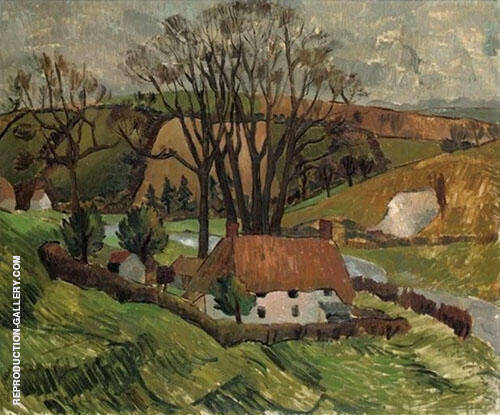 Cottage at Broadchalke Wiltshire 1928 By Christopher Wood
