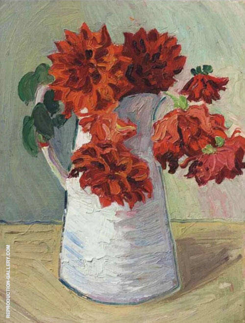 Dahlias in a Jug 1925 By Christopher Wood