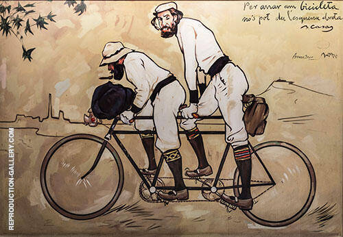 Ramon Casas and Pere Romeu on a Tandem 1897 Full Version By Ramon Casas