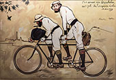 Ramon Casas and Pere Romeu on a Tandem 1897 Full Version By Ramon Casas