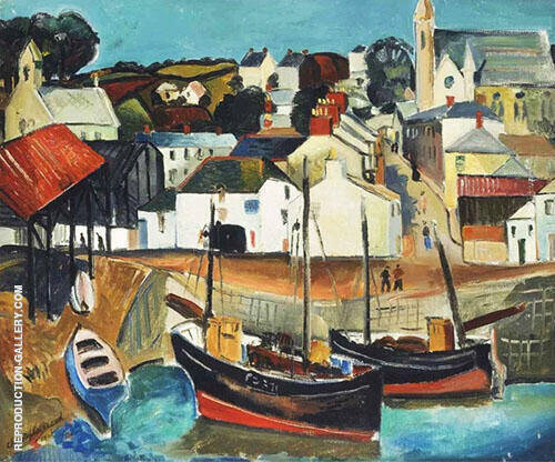 Fishing Village Cornwall 1926 By Christopher Wood
