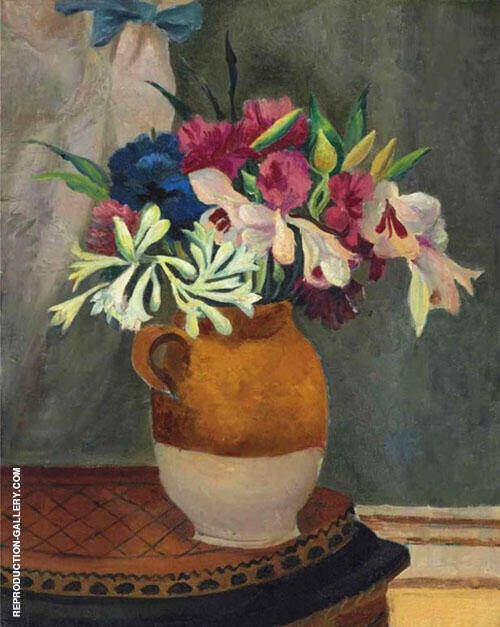 Flowers in a Brown Jug 1923 By Christopher Wood