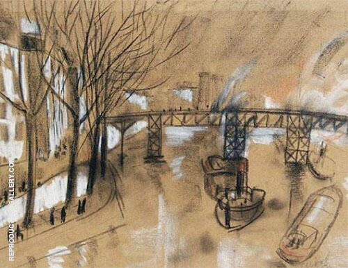 Footbridge over The Seine 1924 By Christopher Wood