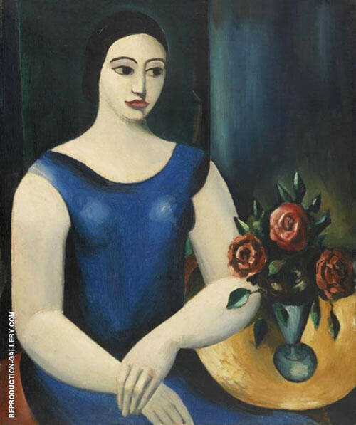 Girl in a Blue Dress 1926 By Christopher Wood