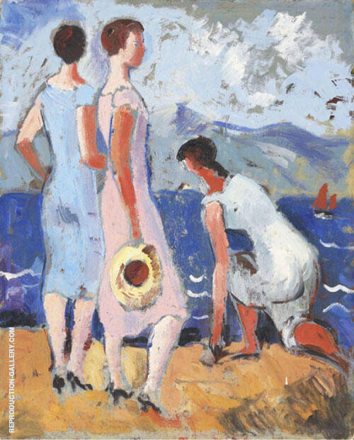 Girls by The Sea Painting By Christopher Wood - Reproduction Gallery
