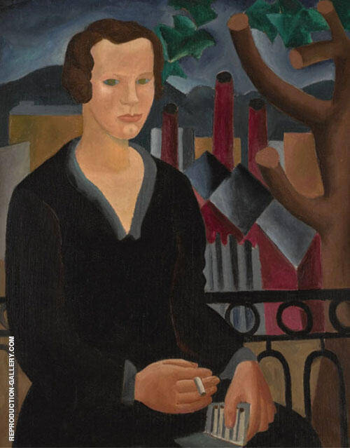 Girl with Cigarette 1927 Painting By Christopher Wood