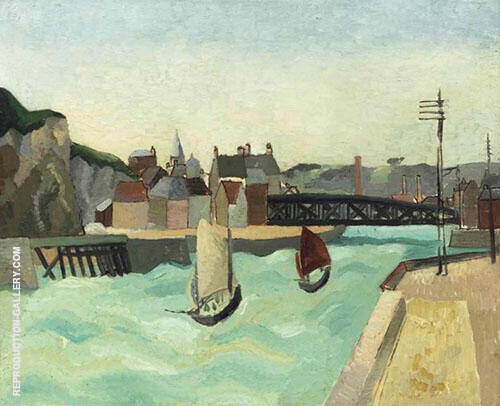 Harbour Entrance Dieppe 1929 Painting By Christopher Wood