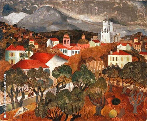 Landscape Near Vence 1927 By Christopher Wood