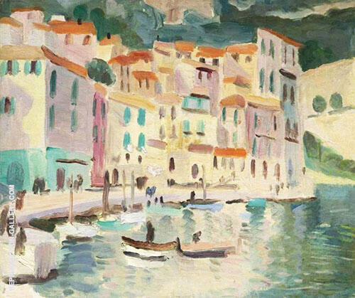 Mediterranean Port 1924 Painting By Christopher Wood